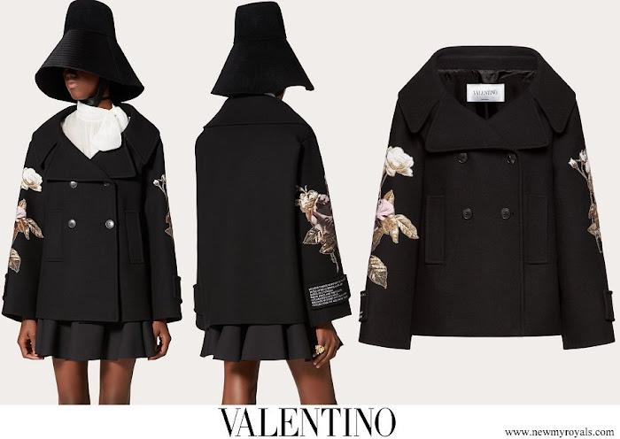Grand Duchess Maria Teresa wore Valentino embroidered coat