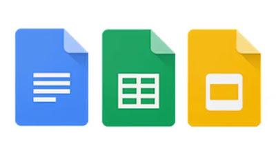 google docs, google sheets, google slides