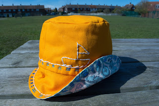 Yellow Nautical Bucket Hat