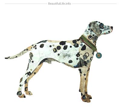 Arte con perro y recortes
