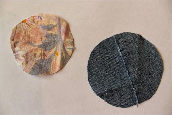 цветок из джинсовой ткани