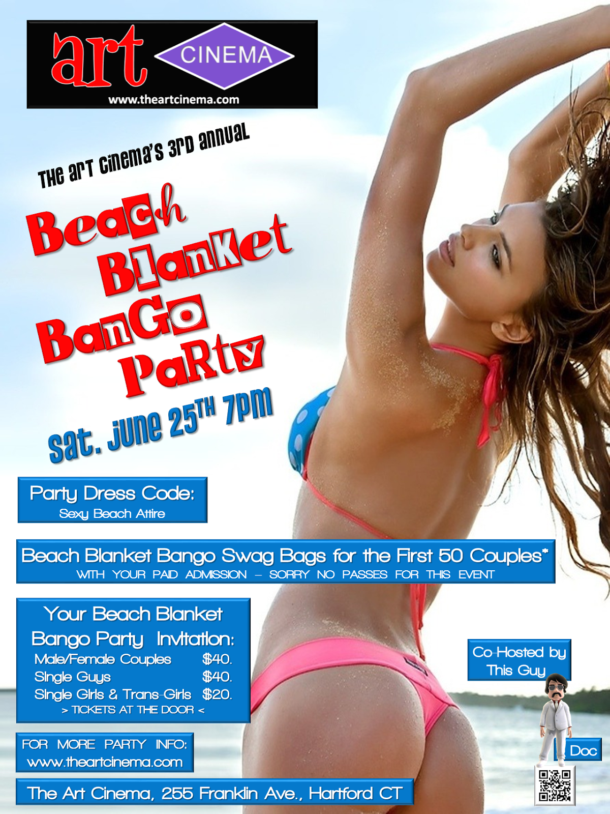 The Next Art Cinema Event! Beach Blanket Bango!