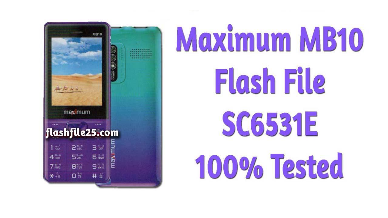 Maximum MB10 flash file firmware