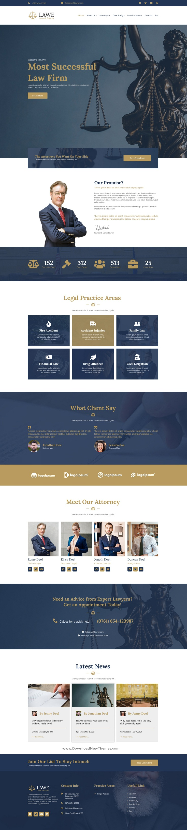 Lawyer and Attorney Figma Template