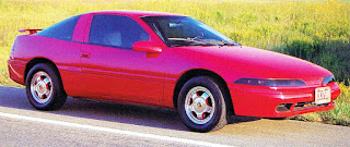 Picture of Chuck Barbosa's award winning red Plymouth Laser