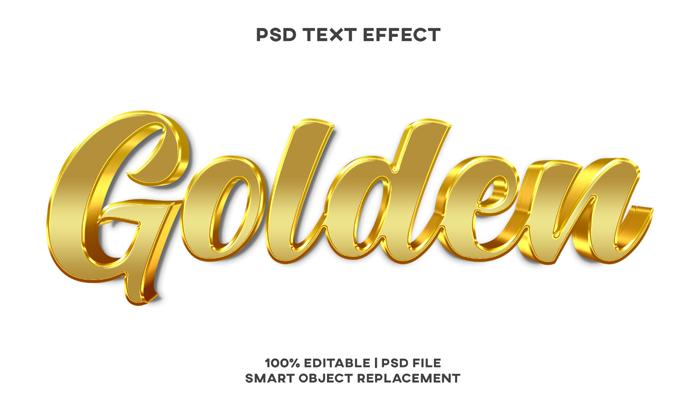 Golden Text Effect Style Psd Template
