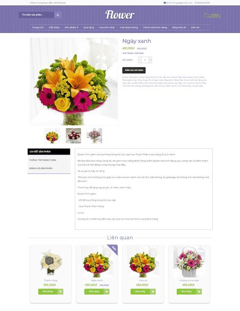 Template blogspot bán hàng Flower Shop - Giaodienblog.com
