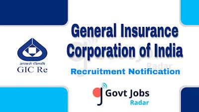 GIC Recruitment Notification 2019, GIC Recruitment 2019 Latest, govt jobs in India, Latest GIC Recruitment update