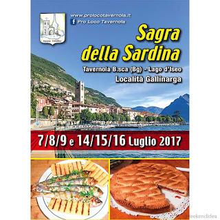 Sagra della Sardina dal 7 al 16 Luglio Tavernola (BG)