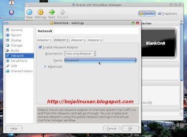 Setting Network Di VirtualBox