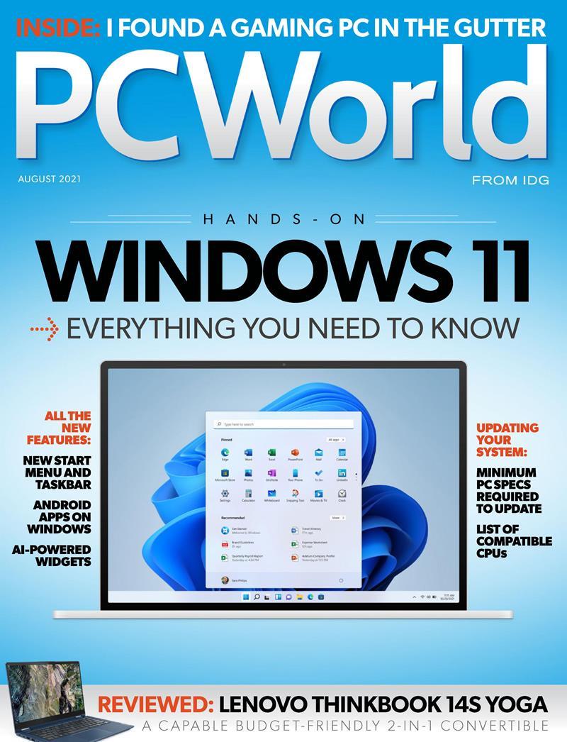 PC World August 2021. Windows 11