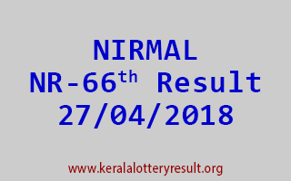 NIRMAL Lottery NR 66 Result 27-04-2018