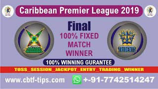 Barbados vs Guayana CPL 2019 Final Match Prediction Today Reports