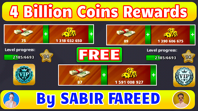 8 Ball Pool FREE 4 Billion + Coins Rewards || Giveaway Friends ❤️ By SABIR FAREED