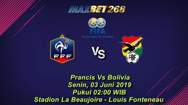 Prediksi Prancis Vs Bolivia, Senin 03 Juni 2019 Pukul 02.00 WIB