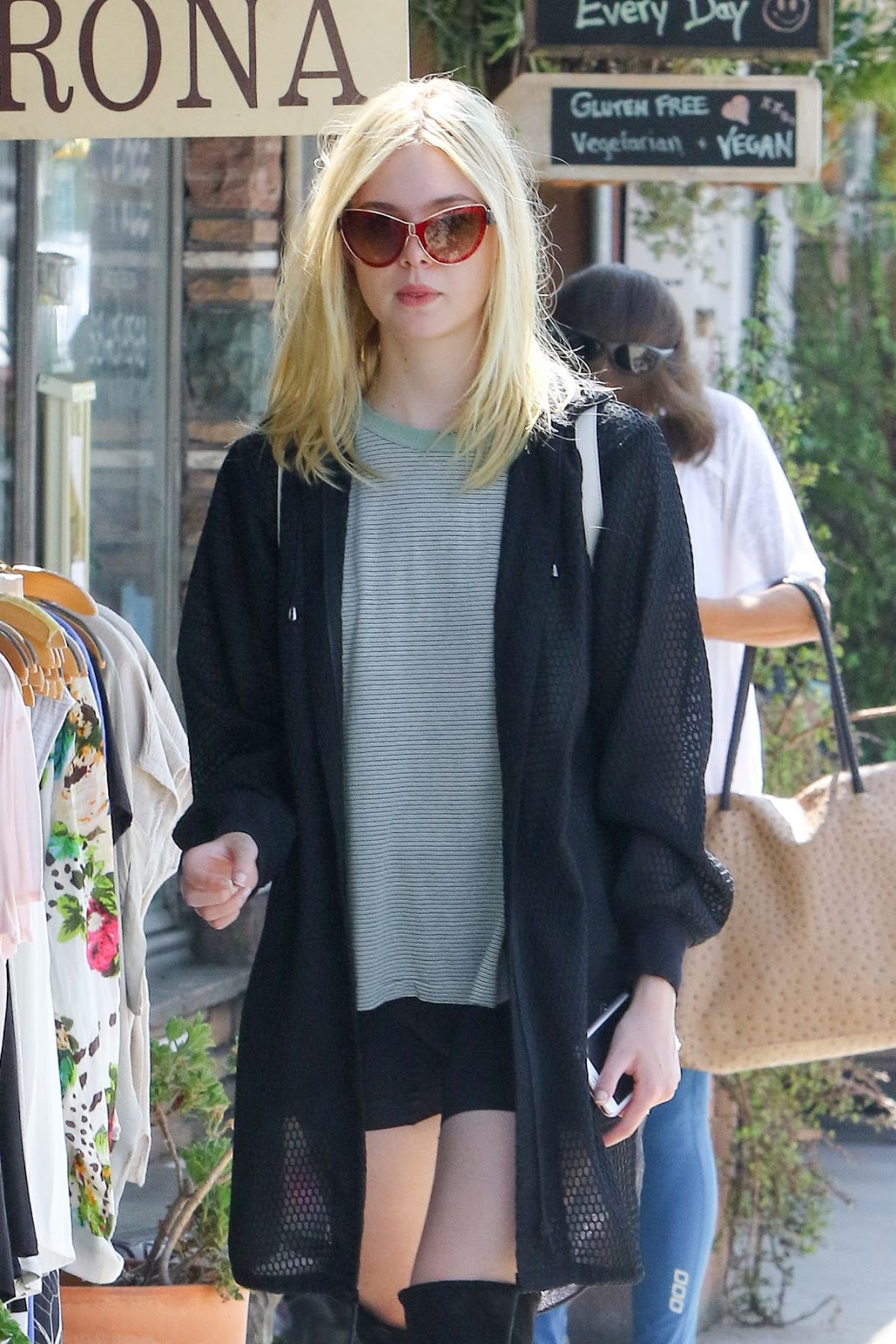 Elle Fanning with Sunglases Out And About in Studio City