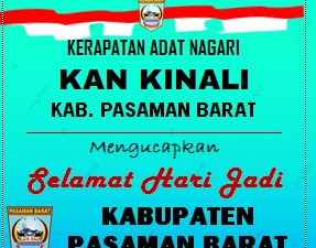 Ketua KAN Kinali Mengucapkan Selamat Hari Jadi Pasbar Ke-17