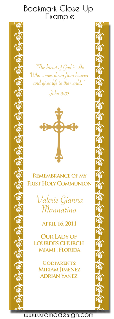 religious bookmark templates - religious events personalized bookmarks as favors