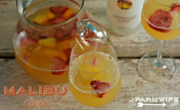 MALIBU SANGRIA #drink #sangria #cocktail #punch #recipes