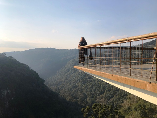 Mirante do Parque do Caracol, em Canela, nas Serras Gaúchas