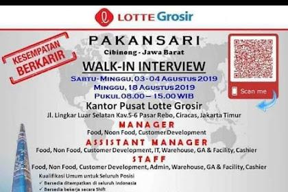 Info Lowongan Kerja Lotte Grosir Pakansari Cibinong