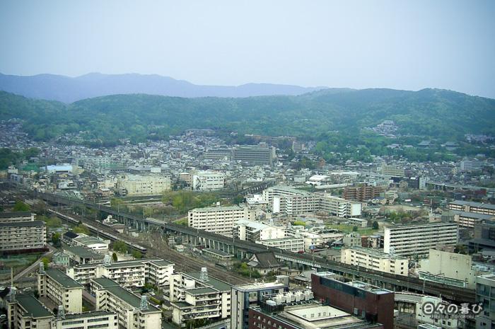 panorama sur les montagnes depuis la kyoto tower