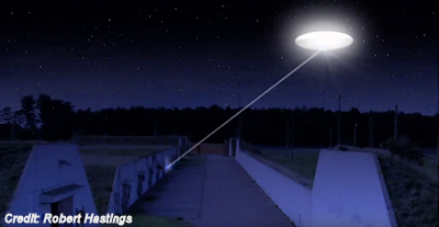 Beams from the UFO Were Falling On Nuclear Bomb Storage Bunkers