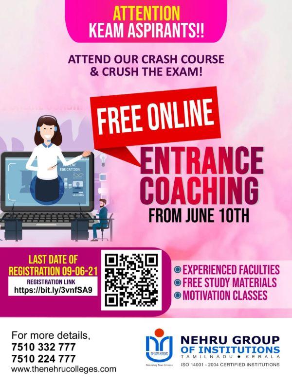 Free Online Entrance Coaching