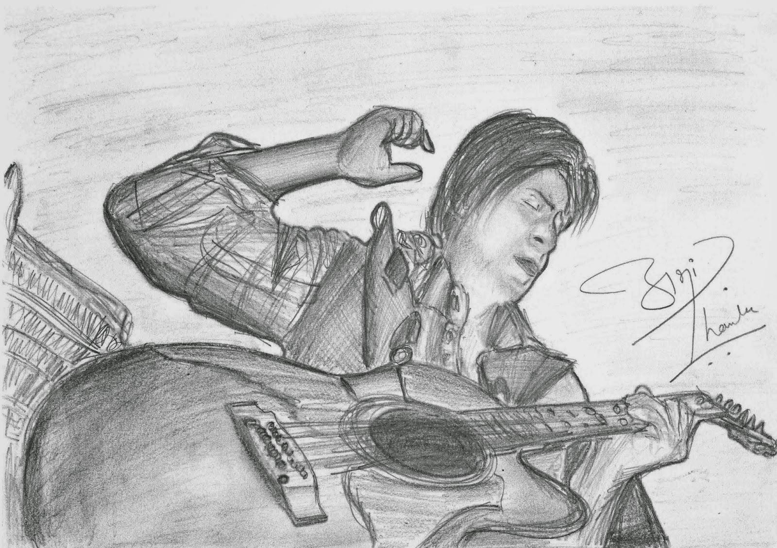 Shahrukh Khan Sketch by Abhishek Thamke