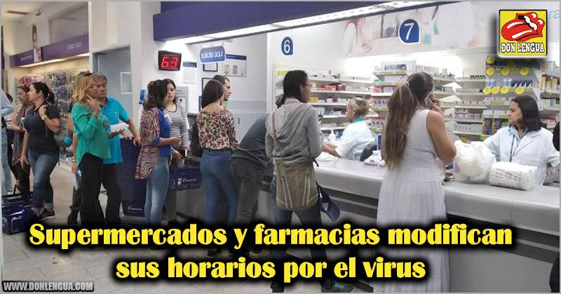 Supermercados y farmacias modifican sus horarios por el virus