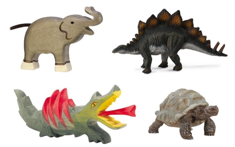 holztiger, ostheimer, schleich and collecta animal figurines