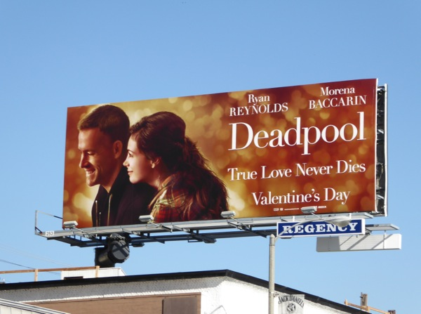 Deadpool Valentines Day spoof billboard