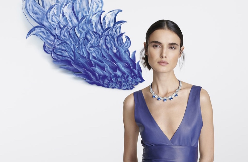 Model Blanca Padilla fronts Cartier [Sur]Naturel High Jewelry campaign.