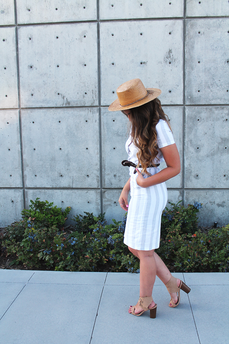 bodycon dress, summer style, striped outfit