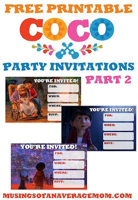 Free Coco party invitations