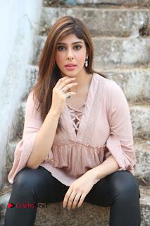 Telugu Actress Aditi Singh Stills in Leather Pants at Nenu Kidnap Iyanu Movie Press Meet  0105.JPG