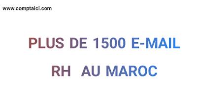 1500 E-mail RH au Maroc, marché du travail, salaire, chômage, demande d'emploi, cv, Lettre de motivation, grh,