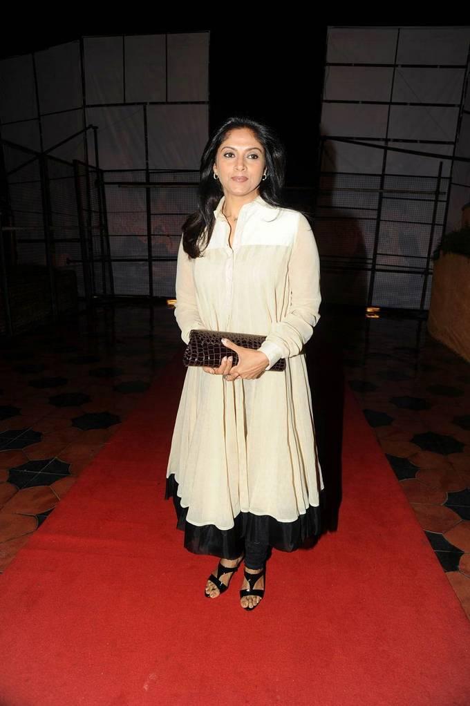 Actress Nadhiya Stills In White Dress At Audio Launch