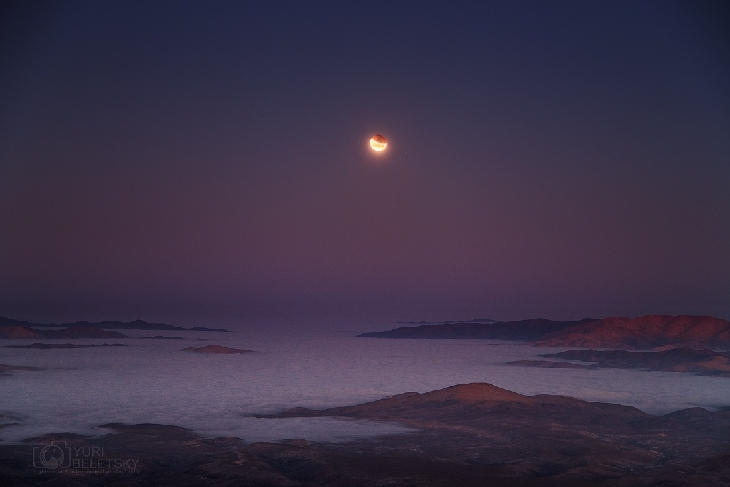Lunar Eclipse Over Pacific October 8, 2014