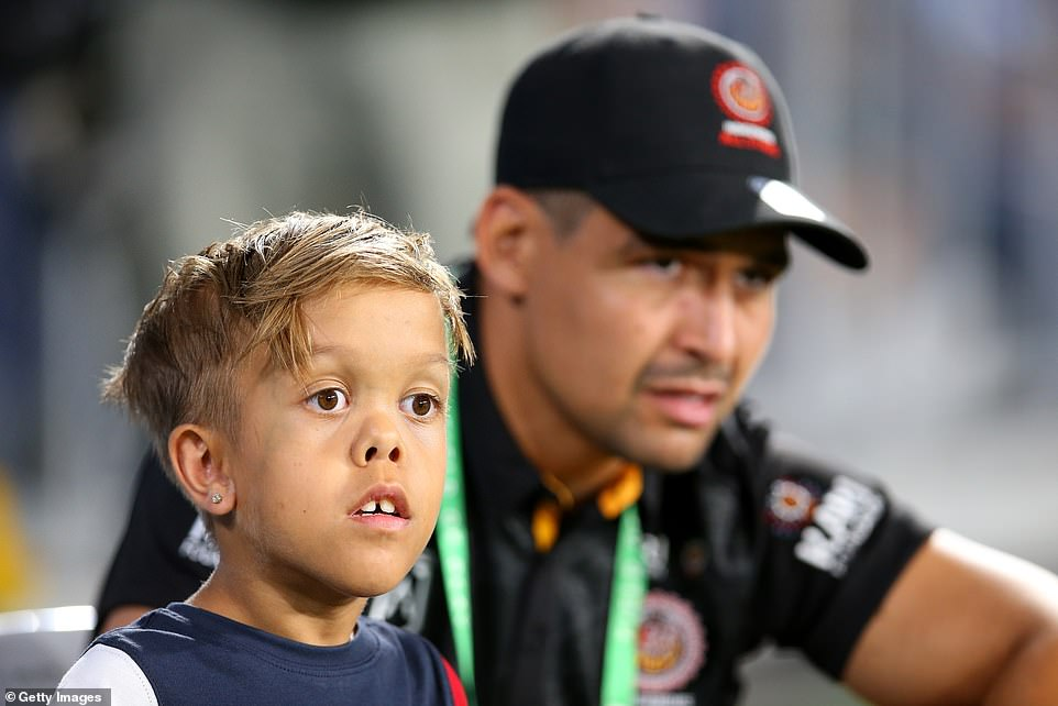 Bullied Schoolboy With Dwarfism Quaden Bayles walks Onto Pitch With Rugby Heroes