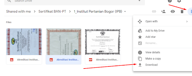 Cara Download Akreditasi BAN PT