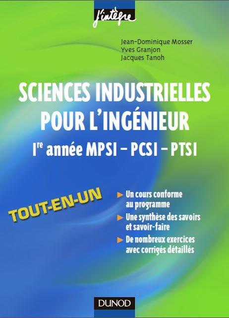 Télécharger Livre Sciences industrielles pour l'ingenieur.pdf