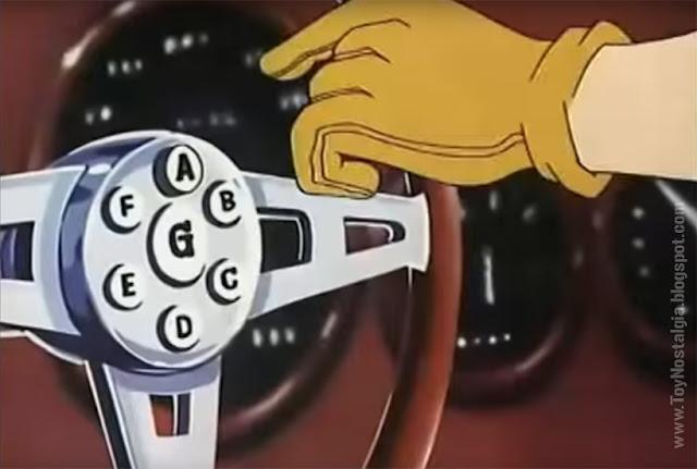 MACH 5  - El volante con los botones que accionan los dispositivos  (METEORO - SPEED RACER - MACH Go Go Go)