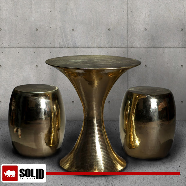 brass gold coffee table