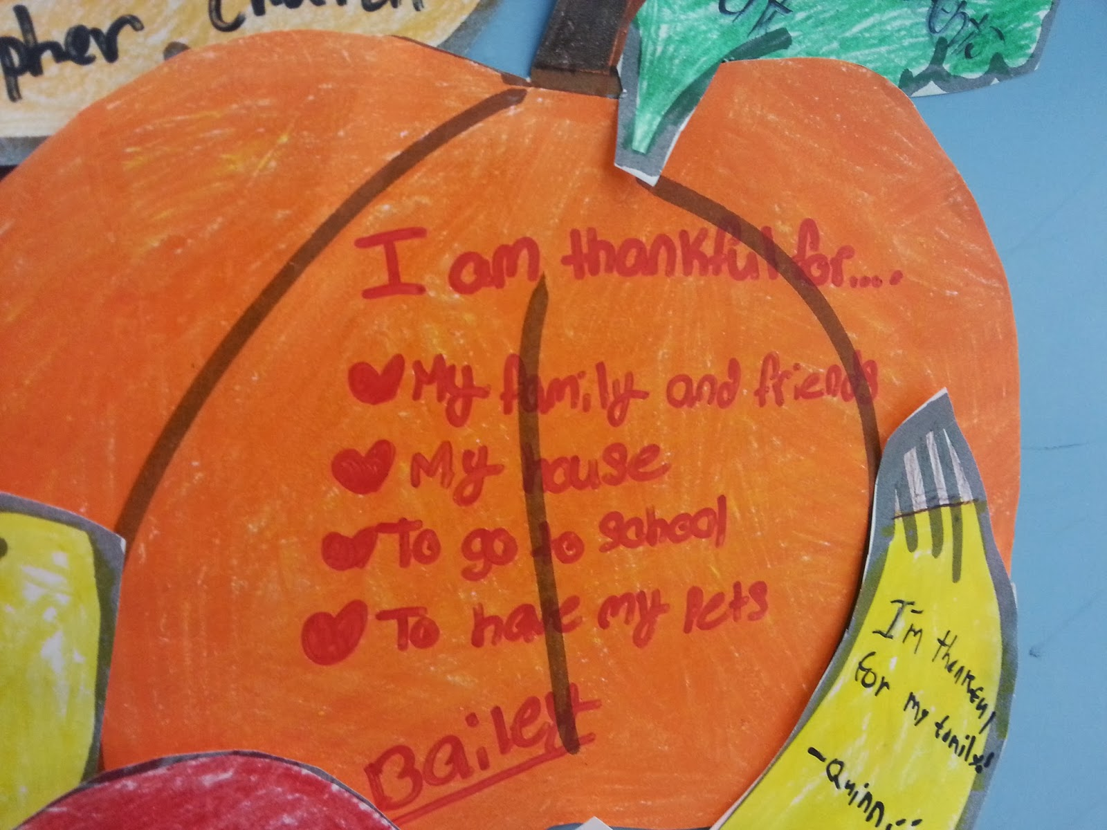 Well, Michelle?: Our Heart are Thankful {Door Decoration!}