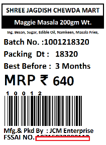 Jagdish Lilo Chevdo Vadodara Print Food Packing Label with Nutritional Values, Batch, Expiry Date, Readymade Garments Barcode Lable with Size, Barcode Tag Label for Jewellery Products Ready to Use Free Printing and Designing Software.