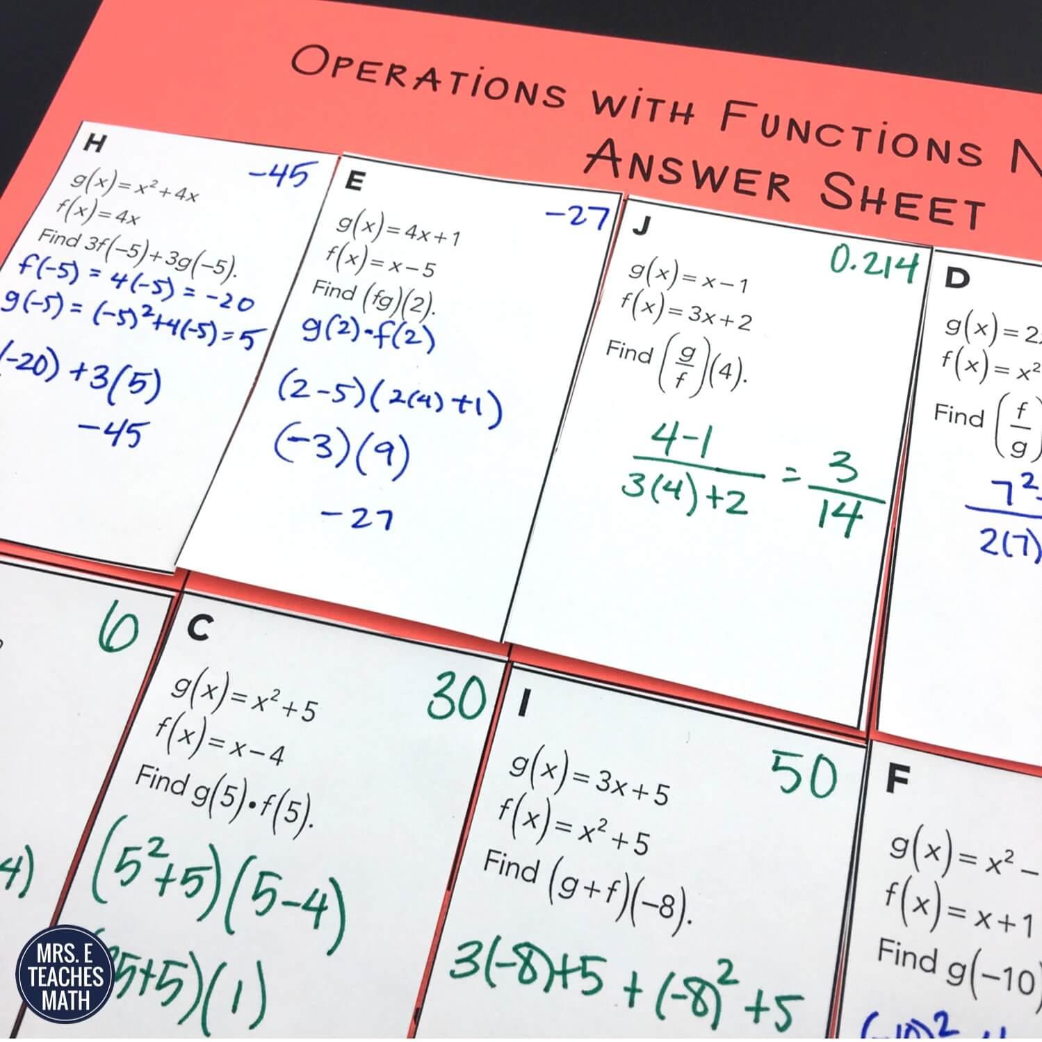 23 Ideas for Teaching Function Notation  Mrs. E Teaches Math