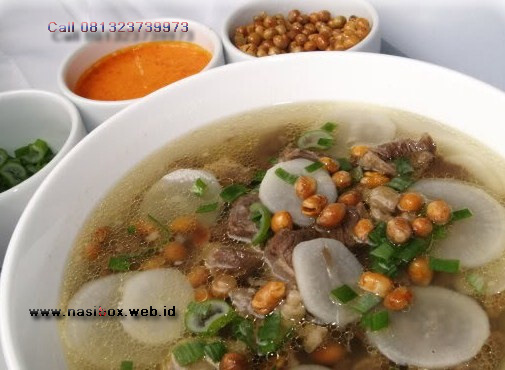 Resep soto bandung nasi box kawah putih ciwidey