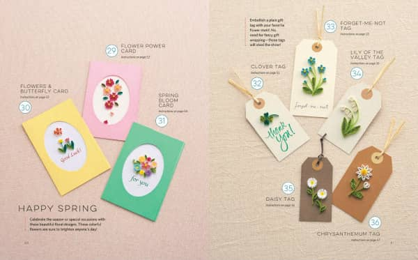 quilled floral cards and gift tags