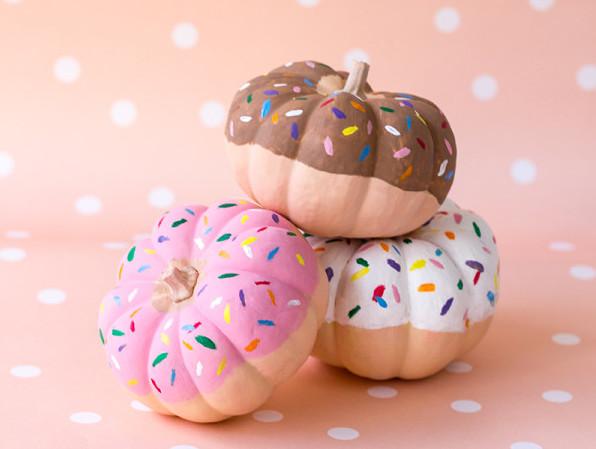 cute DIY pumpkin little doughnut donut sprinkles kids